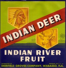 Indian Deer Label